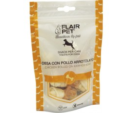 flair pet ossi bianchi con pollo arrotolato grain free natural