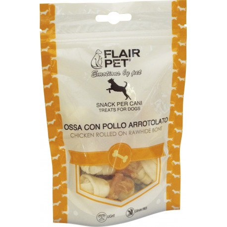 Flair Pet ossa con pollo arrotolato