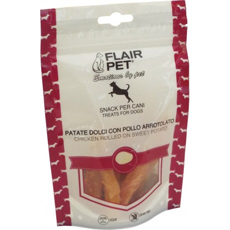 Flair Pet patate dolci con pollo arrotolato