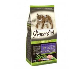 PRIMORDIAL GRAIN FREE CAT ADULT STERILIZZATO TACCHINO ARINGA