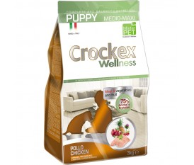 CROCKEX WELLNESS PUPPY MEDIUM E MAXI POLLO E RISO