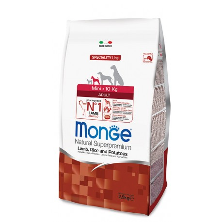 MONGE MINI ADULT AGNELLO RISO PATATE