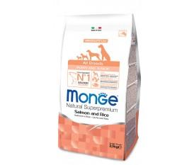 MONGE CANE PUPPY SALMONE RISO