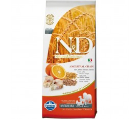 FARMINA N&D LOW GRAIN CANE MEDIUM MERLUZZO ARANCIA