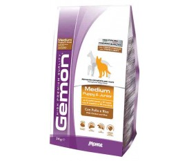 GEMON Medium Puppy & Junior con Pollo e Riso