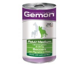 Bocconi con Agnello e Riso per cani Adult Medium