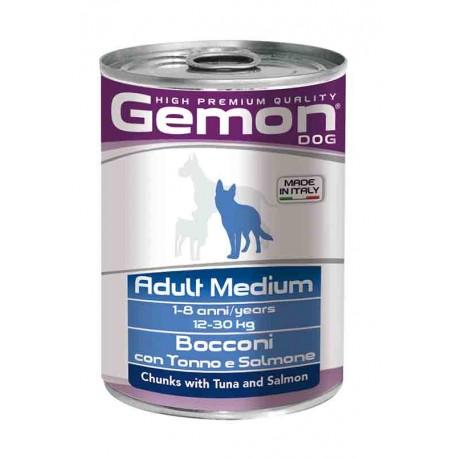 Gemon Bocconi con Tonno e Salmone Per Cani Adult Medium