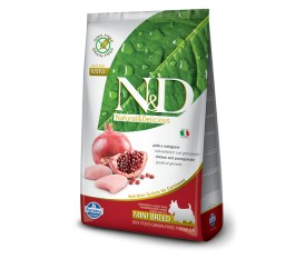 n&d mini adult grain free pollo pesce melograno formato 7 kg