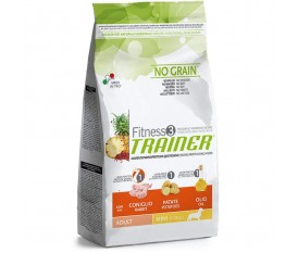 trainer no grain fitness 3 coniglio & patate cane medium &maxi
