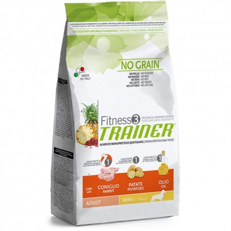TRAINER FITNESS 3 NO GRAIN CONIGLIO & PATATE MEDIUM & MAXI
