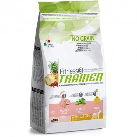 trainer fitness 3 medium & maxi maiale no grain